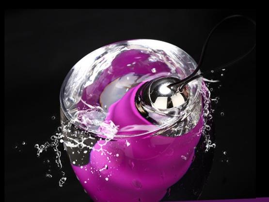 Trứng rung tình yêu silicon không thấm nước